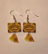 Ouija Board Earrings Planchett Charms