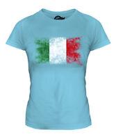 ITALY DISTRESSED FLAG LADIES T-SHIRT TOP ITALIA FOOTBALL ITALIAN GIFT SHIRT