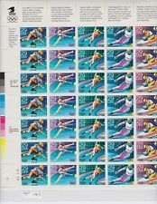 WINTER OLYMPICS Sheet of 35 Stamps - 29c -  Scott # 2611 to 2615) From 1992