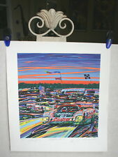 "RANDY OWENS ""DAYTONA SUNRISE"" CASTROL JAGUAR AT 24 HOURS LITHOGRAPH 1996"