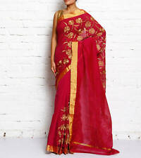 South tussar Cotton saree with zari work by purple oyster
