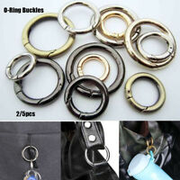Metal Snap Clip Trigger Spring Gate O Ring Keyring Buckle Bag Accessories Rings
