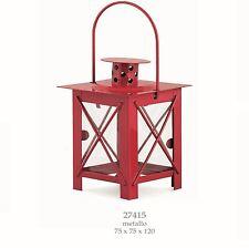Bomboniere Lanterna quadrata metallo Rossa decorazione 75x120 mm art 27415