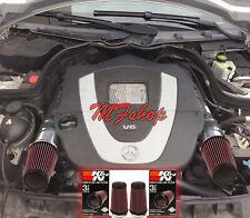 K&N Filters For 2008-2012 Mercedes Benz C300 C350 3.0L 3.5L V6 Air Intake Kit