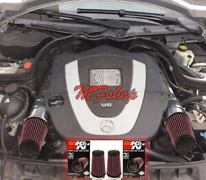 K&N Filters For 2008-2012 Mercedes Benz C300 3.0L V6 Air Intake Kit