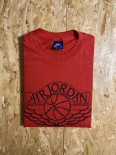 VTG 80S Nike Air Jordan T Shirt 1985 Wings Blue Tag USA Vintage Sz Medium Red