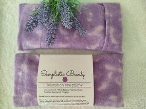 Lavender Yoga Eye Pillow/ Organic Flaxseed and Lavender/ Hot /cold pack- USA