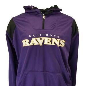 Baltimore Ravens NFL Men's Purple Hooded 1/4 Zip Fleece Pullover Hoodie