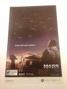 2007 Video Game Print Ad - MASS EFFECT - XBOX 360 LIVE MICROSOFT BIOWARE CORP