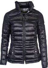Barbour International Camber Baffle Quilted Jacket Coat Size 10 UK Black £199