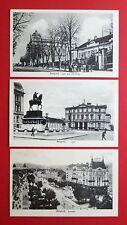 3 x AK BELGRAD in Serbien um 1920 Neue und alte Burg, Theater, Terasia ( 35708