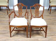 NDRAC010Z, Niagara Furniture, Solid Mahogany Arm and Side Shield Back Chair Set