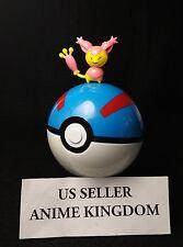 "USA Seller Cosplay 2.5"" Pokeball Pop-up 7cm Poke Ball Great Ball &Pokemon figure"