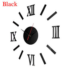 3D DIY Roman Numbers Acrylic Mirror Wall Sticker Clock Home Decor Mural Decals