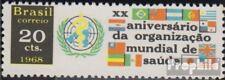 Brasilien 1192 (kompl.Ausg.) ungebraucht 1968 20 Jahre WHO