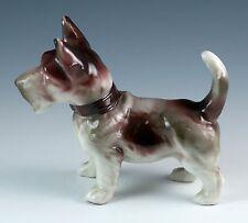 Vintage Porcelain 3.75 Inch Terrier Dog Figurine Made In Japan c.1920-1930's