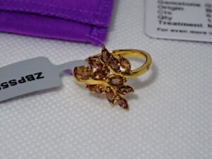 #207 Gemporia Vermeil 0.87ct Gouveia Andalusite Ring & COA Size O