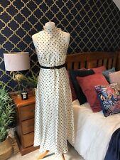 ZARA Black White Polka Dot High Neck Long Maxi Dress LARGE BNWT ❤️ Trinny