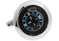 Compass Cufflinks Really Works Hiker Wedding Fancy Gift Box Free Ship USA