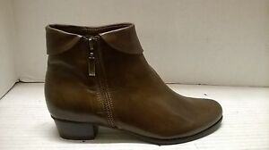 SPRING STEP WOMEN'S STOCKHOLM ANKLE BOOTIE ZIPPER SOFT LEATHER