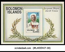 SOLOMON ISLANDS - 1992 Sergeant Major Jacob Vouza - Miniature sheet MNH