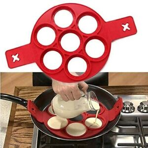 Pancake Maker Silicone Mold Breakfast Mould Cooking Egg Omelette Tool Flip Ring
