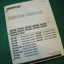 CAT Caterpillar GP Series Forklift Chassis Mast Repair Shop Service Manual book