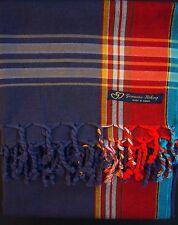 NEW Kikoy Kikoi Blue Red Africa Cotton Sarong Throw Scarf Pareo Kenya Swimwear