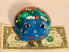 Mexican Talavera Handmade Frog Pottery Med Jewelry Box or Spice Box Free Ship#1