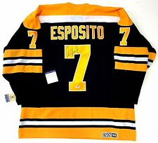 PHIL ESPOSITO SIGNED BOSTON BRUINS CCM VINTAGE JERSEY PSA/DNA COA Y58625