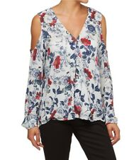 SPORTSGIRL Bloom Shoulder Out Top Blouse Multicolour New Size 8 Tag