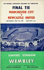 Football Programme Cover Reprints Man. City v Newcastle U F.A.Cup Final 1955