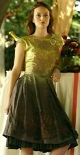 Red Valentino Floral Applique Ombre Gossip Girl A Line Dress US 8 10 / IT 44 46
