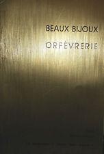 1981 CATALOGUE DE VENTE ILLUSTRE DROUOT BEAUX BIJOUX ORFEVRERIE