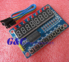 TM1638 8-Bit LED 8-Bit Digital Tube 8 Keys Display module  Arduino