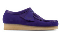 CLARKS ORIGINALS WALLABEE MENS SHOES PURPLE COMBI 51270