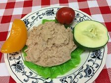 Realistic Fake Food Replica TUNA SALAD Tomato Cucumber Fruit Slices Prop