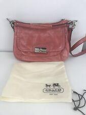 COACH Kristin ROSE Pink Patent Leather Handbag Shoulder Crossbody 19300