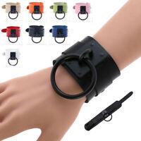 Leather Wristband Bracelet Cuff Goth Gothic Punk Metal Armbands CosplayL A8A