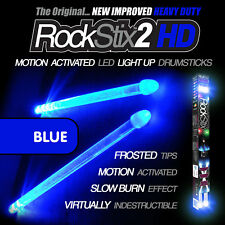 Blue RockStix2 HD - Heavy Duty LED Light Up Drumsticks (Firestix)