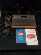 Working Original Atari 2600 Game Console w/ Joysticks and Manual TESTED