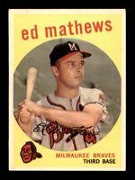 1959 Topps Set Break # 450 ED Mathews EX *OBGcards*