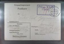 Camp Oflag XIB Braunschweig 1940 POW Prisoner of War Kriegsgefangenenpost (K9)