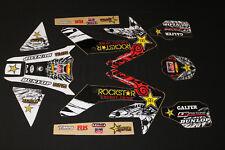 HONDA CRF 250 X  ROCKSTAR FLU MX GRAPHICS KIT DECALS KIT STICKER KIT STICKERS