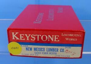 RS-0201 On3/On30 KEYSTONE LOCOMOTIVE WORKS NEW MEXICO LUMBER 2 LOG CARS KIT