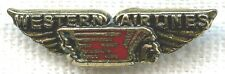 Late 1940's Western Airlines Five Years of Service Pin Burnished Look