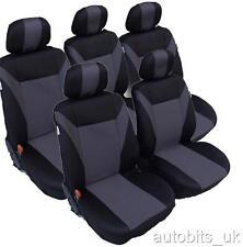 GRIS NOIR 5 X tissu set complet Couvertures de siège pour PEUGETO 307 SW 806 807