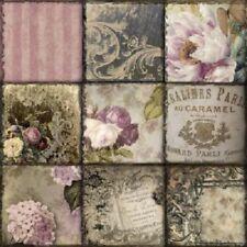 4 Servietten ~ Vintage Collage Paris Rosen Nostalgie Serviettentechnik