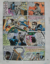 JACK KIRBY Joe Simon CAPTAIN AMERICA #9 pg 37 HAND COLORED ART Theakston 1989