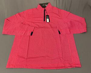 Greyson Tate 1/2 Zip Golf Pullover (XL, Patriotic Pink, Geometric) NWT MSRP $125